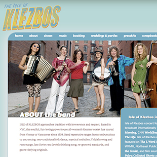 Isle of Klezbos website image