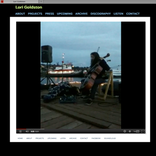 Lori Goldston's website image