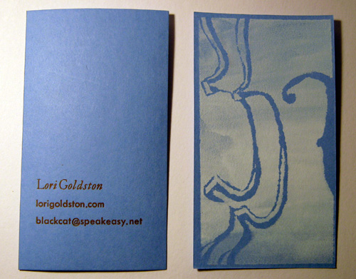 Business card for Lori Goldston