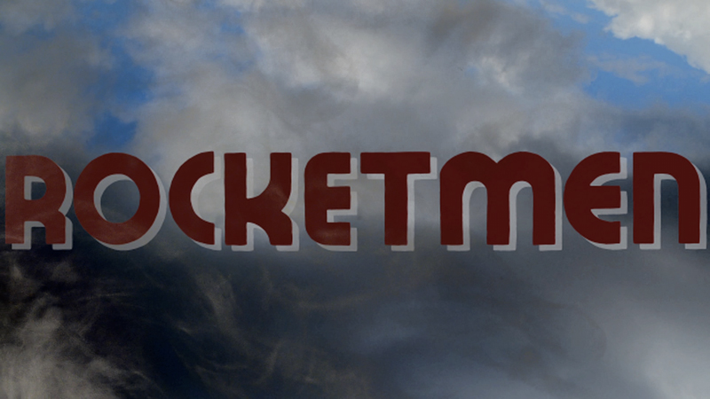 Lettering for title sequence for Rocketmen